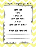 Kindergarten Fluency Passages with Comprehension Questions Sets 1-15