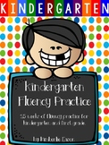 Kindergarten Fluency Practice