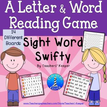 Sight Word  and Letter Reading Game: Sight Word Swifty