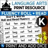 Kindergarten Fluency | Roll and Read