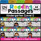 Kindergarten Phonics Reading Comprehension Passages and Questions  (ALL YEAR)