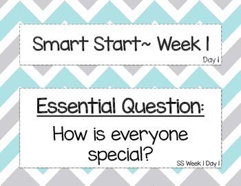 Kindergarten Focus Wall McGraw Hill Wonders Smart Start Week 1
