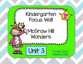 Kindergarten Focus Wall McGraw Hill Wonders Unit 3