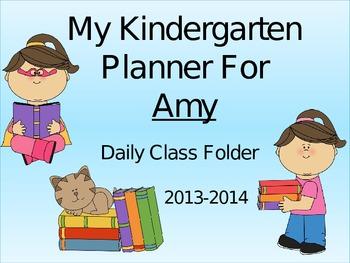 Kindergarten Folder Front Pages