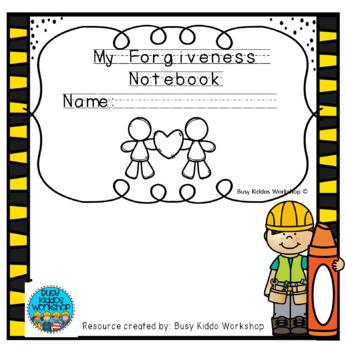 Kindergarten Forgiveness Notebook