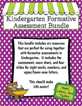 Kindergarten Formative Assessment Bundle