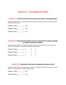 Kindergarten Foundational Skills Assessments