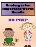 Kindergarten Sight Words & Trick Words Bundle - NO PREP