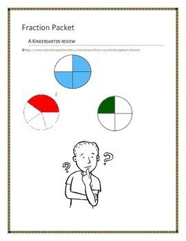 Kindergarten Fraction Packet