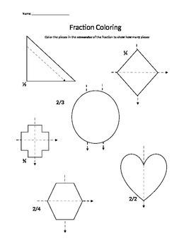 Kindergarten Fraction Packet Preview