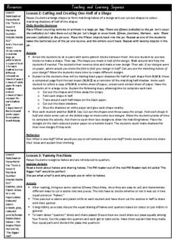 Kindergarten Fractions Smart Notebook and Unit of Work Bundle 3