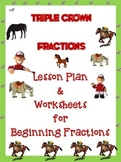 Kindergarten Fractions with Triple Crown Horses