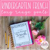 Kindergarten French Long Range Plans // French Literacy Goals