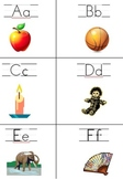 Kindergarten Friendly Alphabet Letter Flash Cards