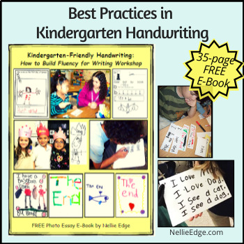 Kindergarten-Friendly Handwriting (FREE E-Book)
