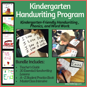 Kindergarten-Friendly Handwriting Program Bundle