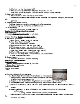 Kindergarten Friendship Group Lesson Plan