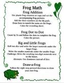 Kindergarten Frog Math Center Activities