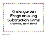 Kindergarten Frogs on a Log Subtraction Game