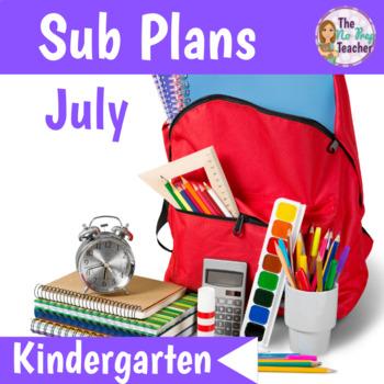 Kindergarten Full Day Sub Plans July
