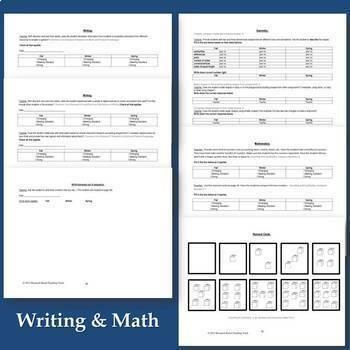 Kindergarten Full Year Assessment Packet Based on Common Core Standards