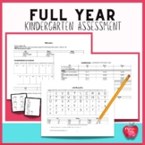 Kindergarten Full Year Assessment Packet Based on Common Core Standards