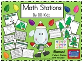 Kindergarten Fun Math Stations/ Roll and Cover/ Counting/ Christmas/ Patterns