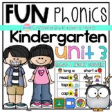 Kindergarten Fun Phonics Unit 3 for Google Slides Distance Learning