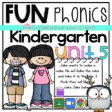 Kindergarten Fun Phonics Unit 5 for Google Slides Lesson and Assignment
