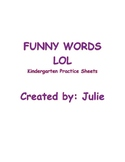 Kindergarten Funny Words Monthly Practice pages