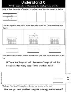 Kindergarten GO MATH Tabbed Booklet {Chapter 1}