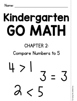 Kindergarten GO MATH Tabbed Booklet {Chapter 2 - Compare Numbers to 5}