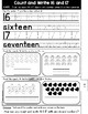 Kindergarten GO MATH Tabbed Booklet {Chapter 7 - Represent, Count & Write 11-19}