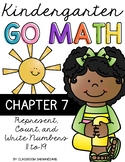 Kindergarten GO MATH Tabbed Booklet {Chapter 7 - Represent, Count & Write 11-19}
