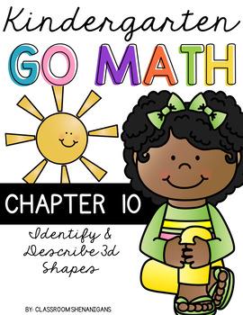 Kindergarten GO MATH Tabbed Flip Book {Chapter 10-Identify