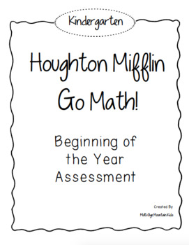 Kindergarten GO! Math Beginning of the Year Assessment
