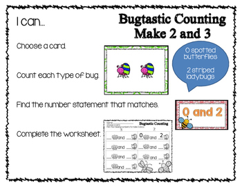 Kindergarten GO Math! Chapter 1 Bugtastic Counting 0-5