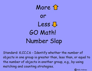 Kindergarten GO Math! Chapters 2 and 3 K.C.CC.6