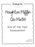 Kindergarten GO! Math End of the Year Assessment
