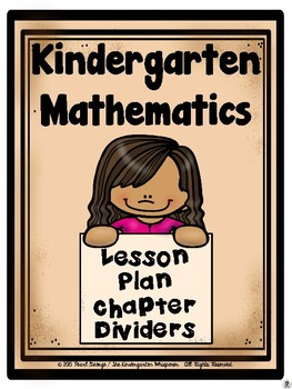 Kindergarten Mathematics Lesson Plan Dividers