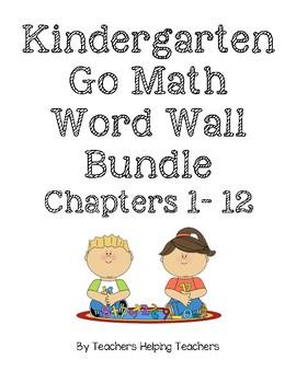 Kindergarten GO Math Word Wall Bundle