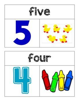 Kindergarten GO Math Word Wall Chapter 1