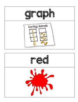 Kindergarten GO Math Word Wall Chapter 12
