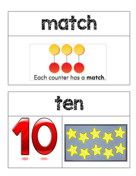 Kindergarten GO Math Word Wall Chapter 4