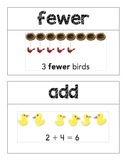Kindergarten GO Math Word Wall Chapter 6