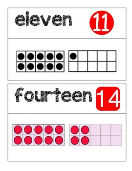 Kindergarten GO Math Word Wall Chapter 7