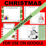 Kindergarten GOOGLE Christmas Writing Activity Templates