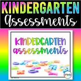 Kindergarten GROWING Assessment Binder BUNDLE - Math ELA Writing Report Cards