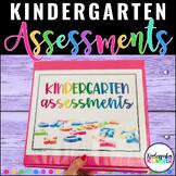 Kindergarten Assessments BUNDLE - Math ELA Writing Virtual Distance Learning
