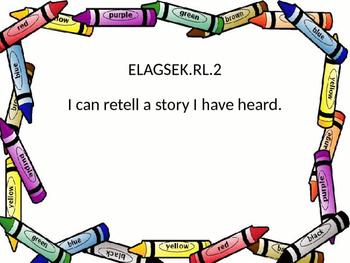 Kindergarten GSE ELA I Can Statements